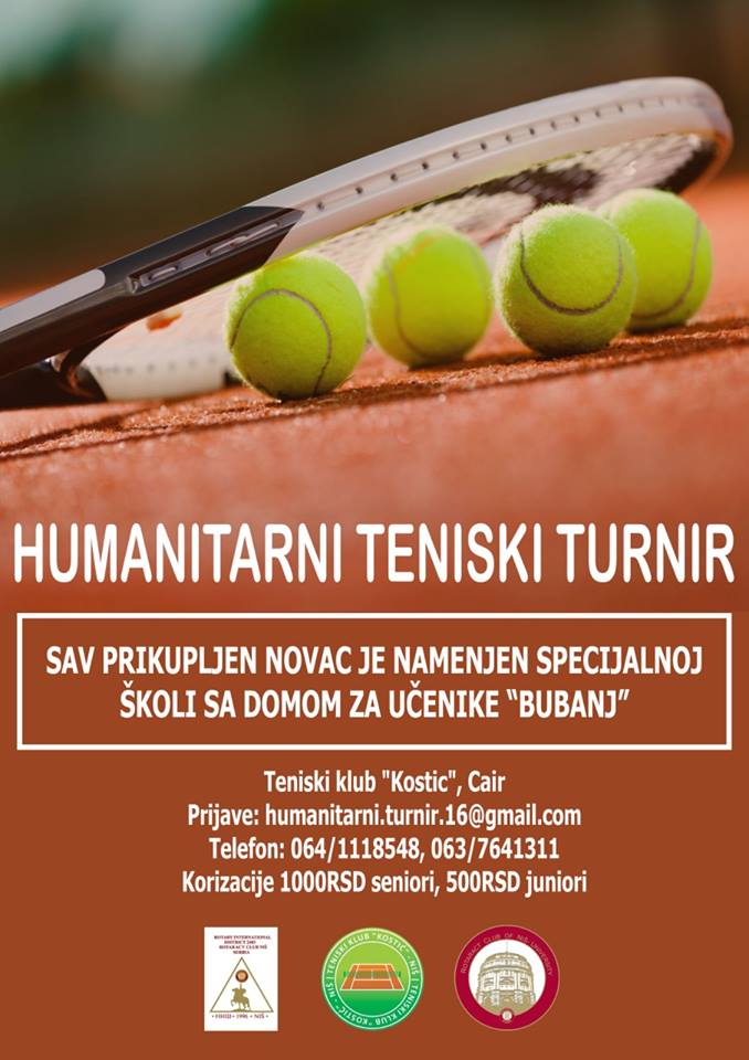 Humanitarni teniski turnir Rotaract Club of Nish